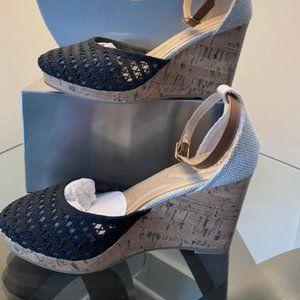 Apt 9 Woven Wedge Heel Womens 7 Sandal Ankle Strap